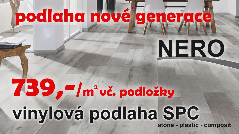 NERO HOME SPC představuje naprostou špičku v řešení podlah. Díky materiálu SPC (kameno-plastová kompozitní deska) je podlaha velice pevná, tvarově stálá, bez vtalátů a změkčovadel. Patří k nové generaci podlah, které představují působivou kombinaci výhod syntetického materiálu s estetikou dřevěné podlahy. Díky integrované podložce má podlaha výborný kročejový útlum a ušetříte 100,- až 200,-! Podlaha je ideální řešení pro Váš dům či byt VÍCE ZDE:
