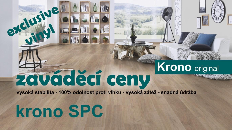 Vinylová podlaha Krono SPC představuje nejnovější pokrok ve vývoji vinylových podlah a jsou považovány za nový trend v podlahových krytinách. Díky svým vlastnostem jsou ideálním řešením nejen pro domácnosti, ale i pro komerční a zatěžované prostory. Zásadní novinkou těchto podlah je SPC vrstva tvořená z 65% uhličitanem vápenatým, což zajišťuje bezesporu největší výhodu těchto podlah. Tou je vynikající prostorová stabilita, dobré snášení teplotních rozdílů, pevnost, stabilita a ohnivzdornost. VÍCE ZDE