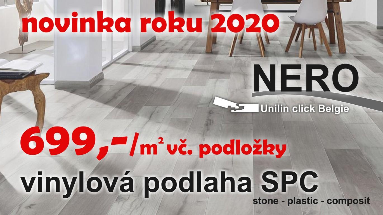 NERO SPC představuje naprostou špičku v řešení podlah. Díky materiálu SPC (kameno-plastová kompozitní deska) je podlaha velice pevná, tvarově stálá, bez vtalátů a změkčovadel. Patří k nové generaci podlah, které představují působivou kombinaci výhod syntetického materiálu s estetikou dřevěné podlahy. Díky integrované podložce má podlaha výborný kročejový útlum. Vysoká odolnost těchto podlah dovoluje pokládku v komerčních prostorách, v koupelnách, kuchyních a vstupních halách. VÍCE ZDE