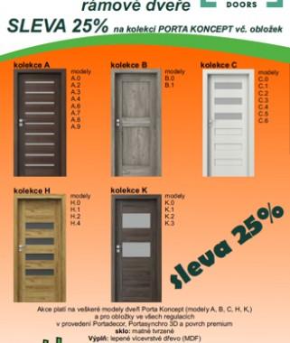 Sleva 25% na kolekce dveří Porta Koncept a Verte Premium