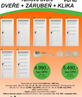 Akční sety dveří Verte model G a model  J