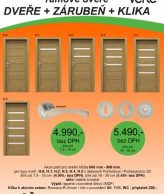 Akční sety dveří Verte model H a model Porta decor