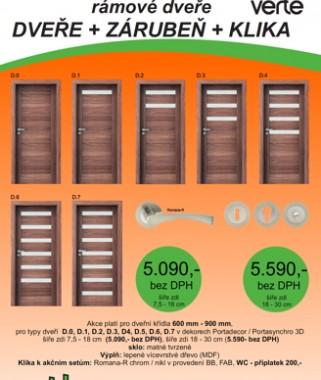 Akční sety dveří Verte model C a model  D